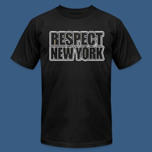 Respect New York - Men's T-Shirt by American Apparel