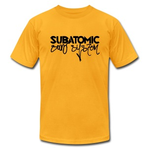Subatomic Sound System black graffiti logo - Men's T-Shirt by American Apparel