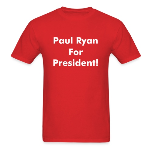Ryan 4 Pres! - Mens (White Print) - Men's T-Shirt