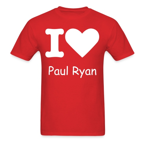 I Heart Paul Ryan - Mens (White Print) - Men's T-Shirt
