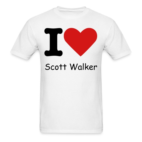 I Heart Scott Walker - Mens - Men's T-Shirt