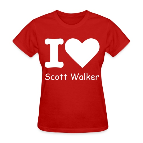 I Heart Scott Walker - Womens (White Print) - Women's T-Shirt
