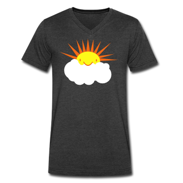 sun peeking out from behind a cloud T-Shirts