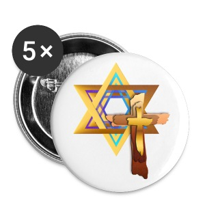 Star Of David and Triple Cross - Small Buttons