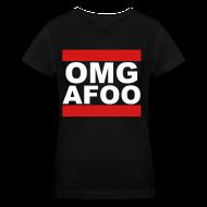 Women's T-Shirts ~ Women's V-Neck T-Shirt ~ Run OMG V-Neck (white) - Girls