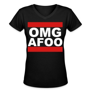 Run OMG V-Neck (white) - Girls - Women's V-Neck T-Shirt