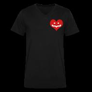 T-Shirts ~ Men's V-Neck T-Shirt by Canvas ~ One Heart V-Neck