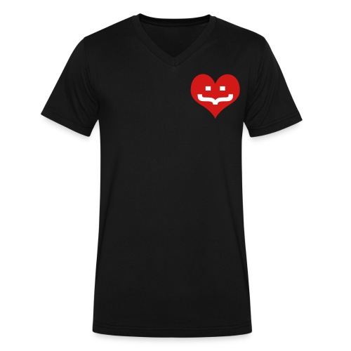 One Heart V-Neck - Men's V-Neck T-Shirt by Canvas