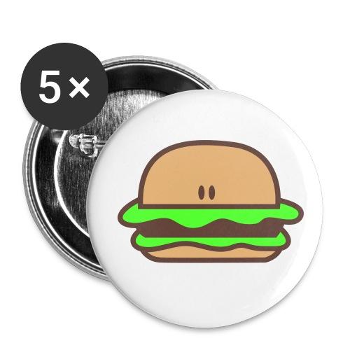 hamburger pins - Large Buttons
