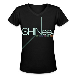 [SHINee] 1st Mini - Women's V-Neck T-Shirt