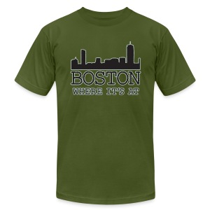 Boston: Where It's At - Men's Fine Jersey T-Shirt