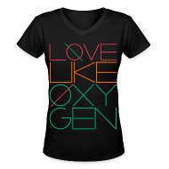 Women's T-Shirts ~ Women's V-Neck T-Shirt ~ [SHINee] Love Like Oxygen