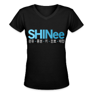 Women's T-Shirts ~ Women's V-Neck T-Shirt ~ [SHINee]