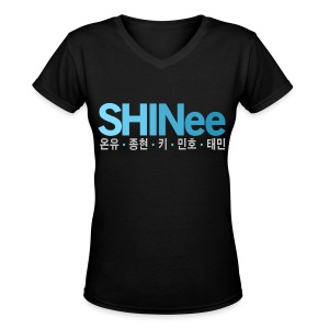 [SHINee] SHINee & Hangul Names - Women's V-Neck T-Shirt
