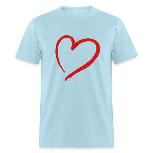 Peach Heart Love T-shirt - Men's T-Shirt