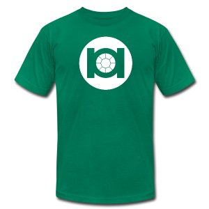 Green Tie - Men's T-Shirt by American Apparel