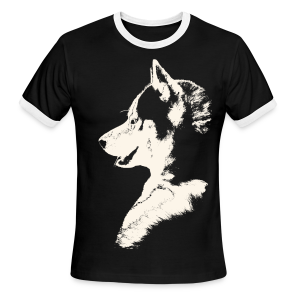Husky Wolf Men's T-shirts Siberian Husky Shirts - Men's Ringer T-Shirt