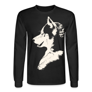 Men's Husky Shirts Siberian Husky Shirts Sled Dog Shirt - Men's Long Sleeve T-Shirt