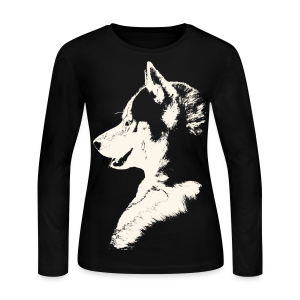 Women''s Husky Shirts Siberian Husky Shirts Sled Dog Shirt - Women's Long Sleeve Jersey T-Shirt