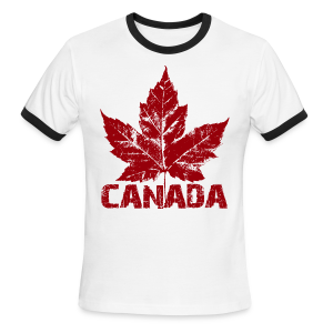 Men's Cool Canada Ringer T-shirt Canadian Souvenir T-shirts - Men's Ringer T-Shirt