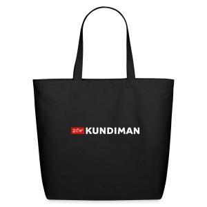 Kundiman Logo - Large Tote, White Logo - Eco-Friendly Cotton Tote
