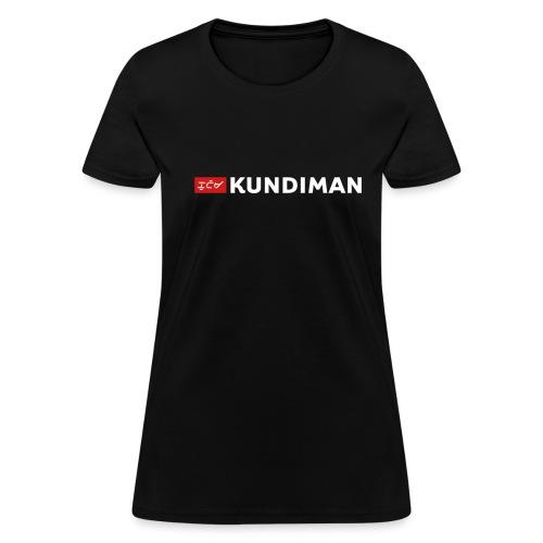 Kundiman Logo - Women's T-Shirt, White Logo - Women's T-Shirt