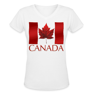 Canada Souvenir Women's Shirts Stylish Canada Ladies Jr. Shirts - Women's V-Neck T-Shirt