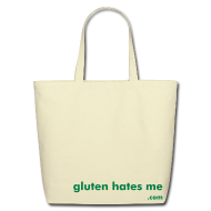 Bags & backpacks ~ Eco-Friendly Cotton Tote ~ Gluten Hates Me Grocery Tote - Green