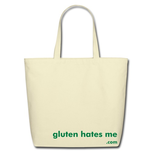 Gluten Hates Me Grocery Tote - Green - Eco-Friendly Cotton Tote