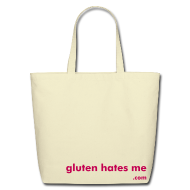 Bags & backpacks ~ Eco-Friendly Cotton Tote ~ Gluten Hates Me Grocery Tote - Magenta