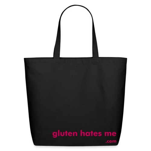 Gluten Hates Me Grocery Tote - Magenta - Eco-Friendly Cotton Tote
