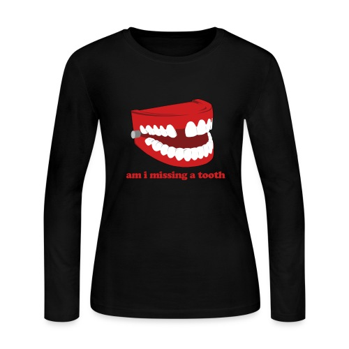 Hangover Missing Tooth - Women's Long Sleeve Jersey T-Shirt