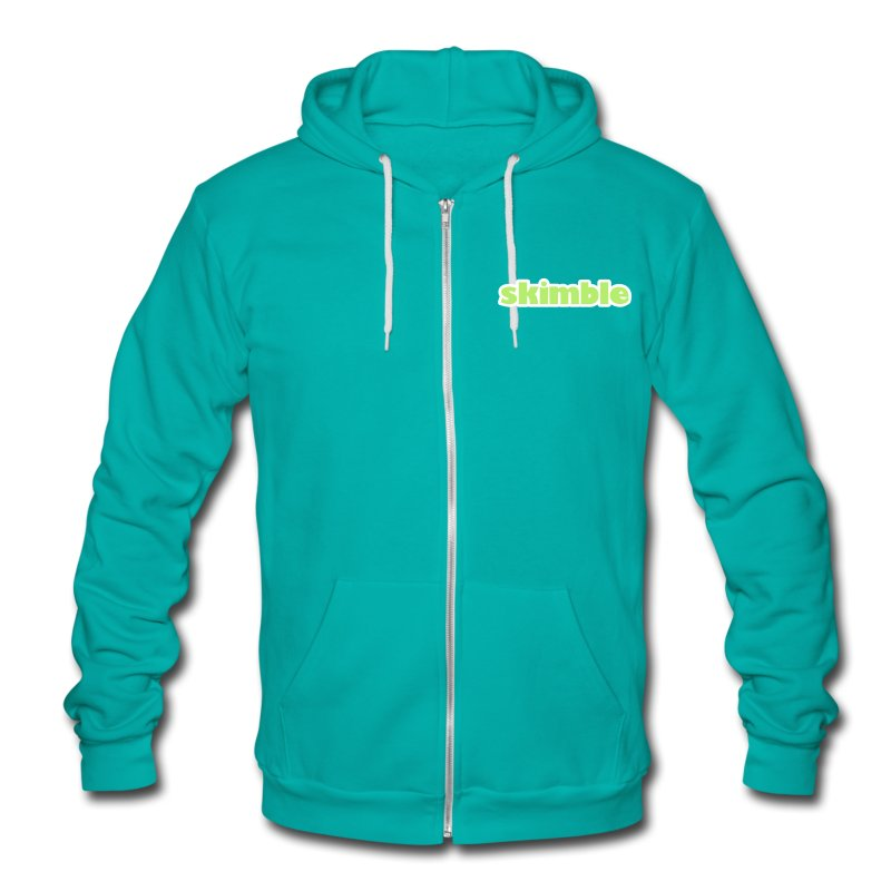 Skimble Unisex Fleece Zip Hoodie - Unisex Fleece Zip Hoodie by American Apparel