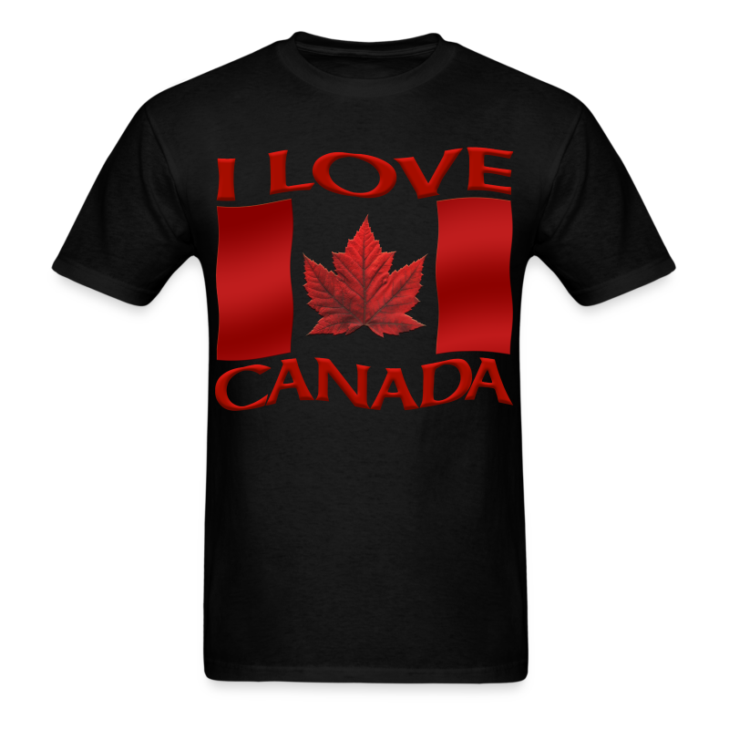 I Love Canada T-shirt Men's Shirt Canada Flag T-shirt - Men's T-Shirt