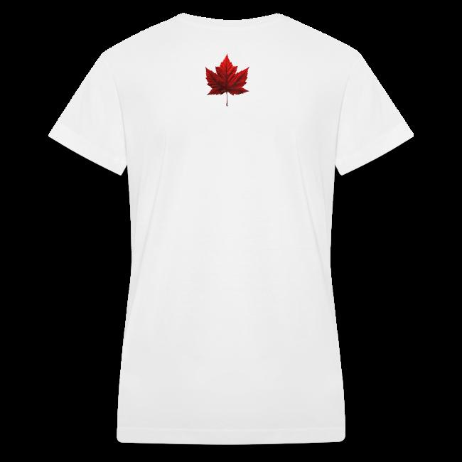 I Love Canada T-shirt Women's Shirt Canada Flag T-shirt