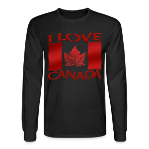 I Love Canada Shirt Men's Long Sleeve Canada Shirt - Men's Long Sleeve T-Shirt