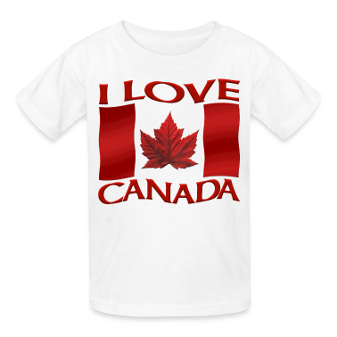 I Love Canada Toddler T-shirt Canada Flag Baby Shirt