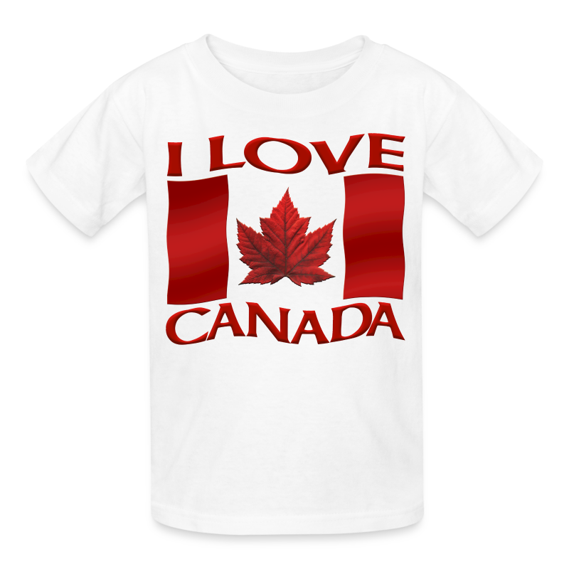 I Love Canada Kid's T-shirt Canada Flag Kid's Shirt - Kids' T-Shirt