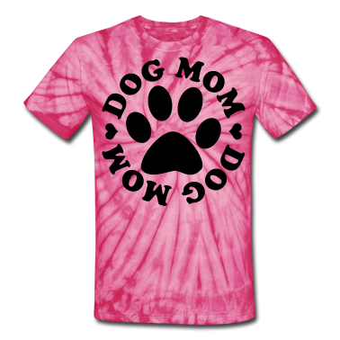 Dog Mom Paw T-Shirts