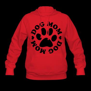 Dog Mom Paw Hoodies
