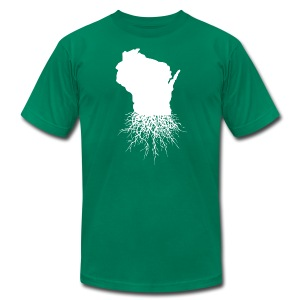 Wisconsin Roots - Men's T-Shirt by American Apparel