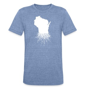 Wisconsin Roots - Unisex Tri-Blend T-Shirt by American Apparel
