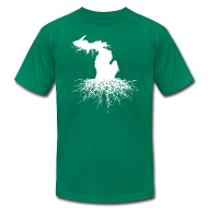 T-Shirts ~ Men's T-Shirt by American Apparel ~ Michigan Roots Men's American Apparel T-Shirt