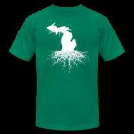 T-Shirts ~ Men's T-Shirt by American Apparel ~ Michigan Roots Men's American Apparel T-Shirt