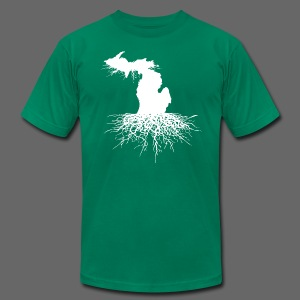 Michigan Roots Men's American Apparel T-Shirt - Men's T-Shirt by American Apparel