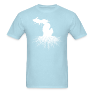 T-Shirts ~ Men's T-Shirt ~ Michigan Roots Men's Standard Weight T-Shirt