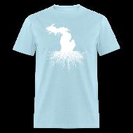 T-Shirts ~ Men's T-Shirt ~ Michigan Roots Men's Standard Weight T-Shirt