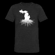 T-Shirts ~ Unisex Tri-Blend T-Shirt ~ Michigan Roots Men's Tri-Blend Vintage T-Shirt