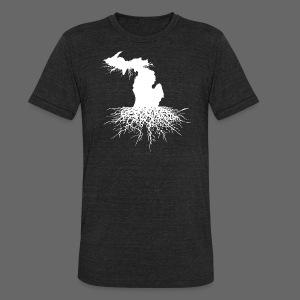 Michigan Roots Men's Tri-Blend Vintage T-Shirt - Unisex Tri-Blend T-Shirt