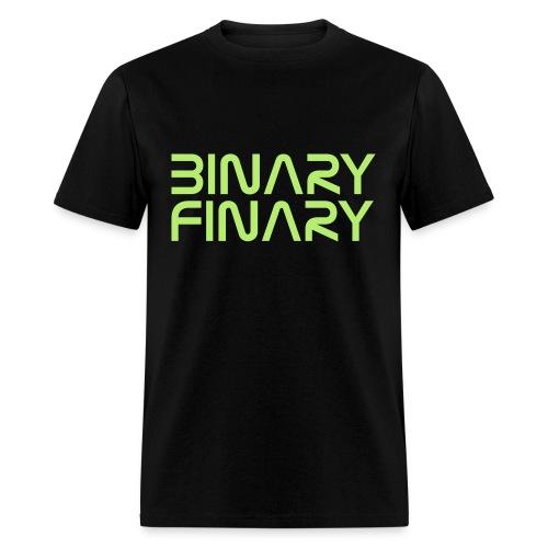 Binary Finary Logo T-Shirt (Black - Neon Green Logo) - Men's T-Shirt